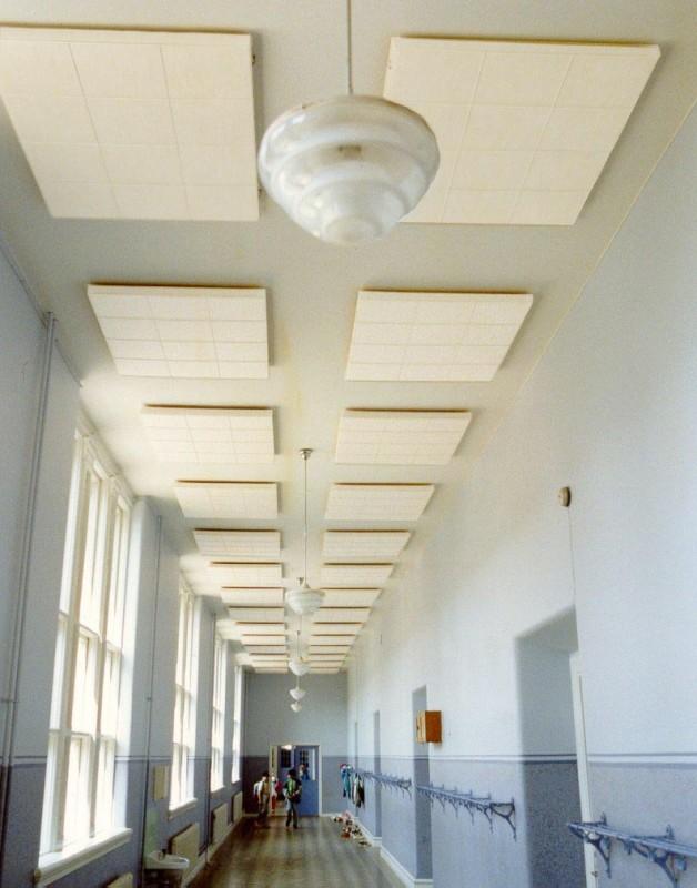 Sonett ljudabsorbent i korridor
