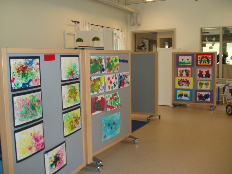 Ljuddämpande skärmar förskola Mariestad