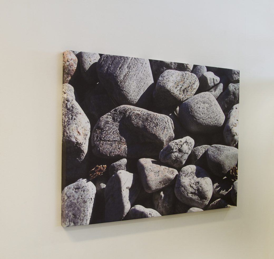 Akustikbild med stenar