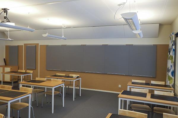 Grå Anslagstavla ljudabsorbenter i klassrum