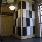 Slagtavla ljudabsorbenter för vägg