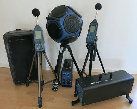 Mätutrustning Akustik Buller