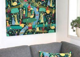 Flex Design Ljudabsorbent med mönster Lustgården Stig Lindberg