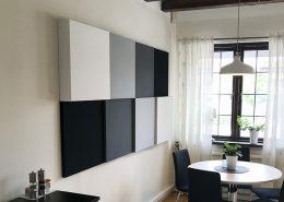 Flex mini etage ljudabsorbent monterad på vägg