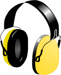 Gula hörselskydd