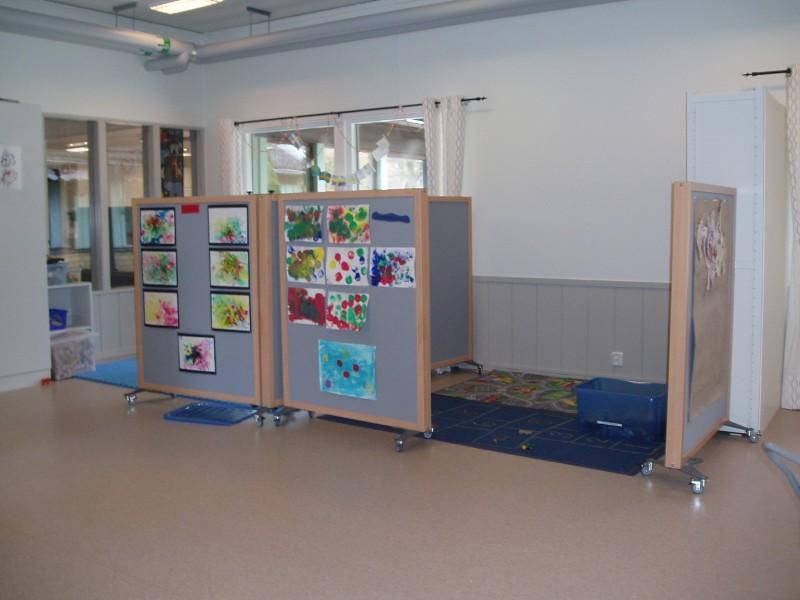 Ljuddämpande skärmar förskola i Mariestad