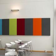Ljudabsorbent Flex Bas i olika färger monterad i matsal