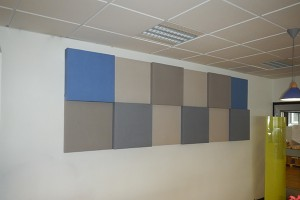 Flex ljudabsorbenter för vägg