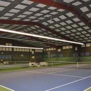 Sport Ljudabsorbent monterad i tak och på väggar i sporthall